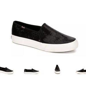 Keds Double Decker Slip On Sneaker - Sequin Black